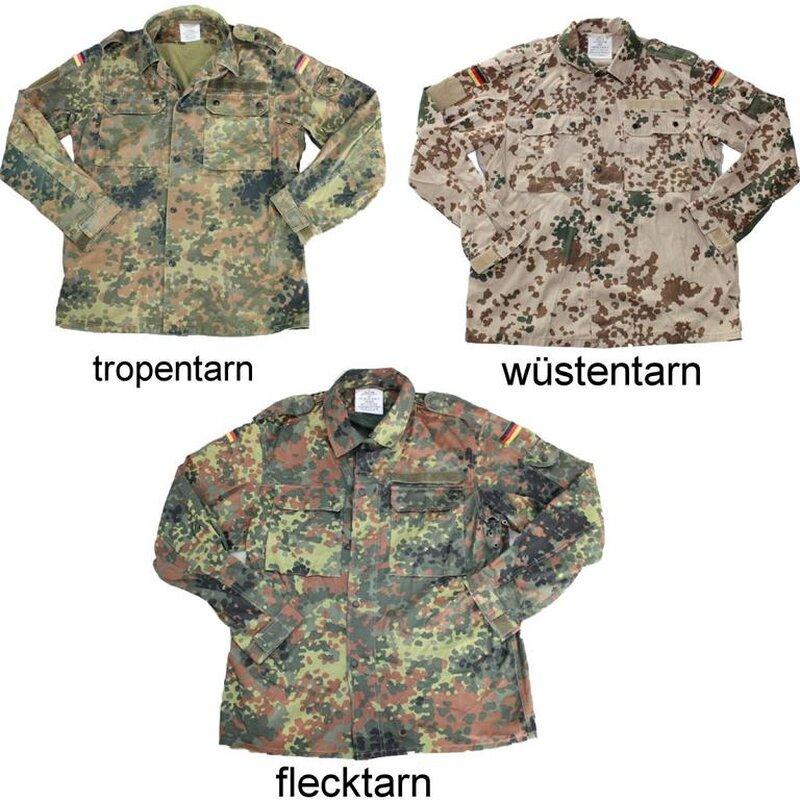 Military Top German Armed Forces Field Blouse BW Feldbluse Flecktarn bis 5XL!!