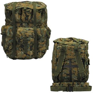 US Rucksack, Alice Pack large, marpat camo, Metallgest.,neuw.